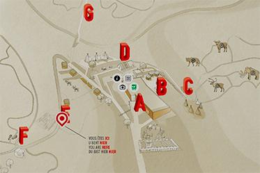 Le plan du Préhistomuseum